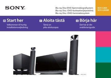 Sony BDV-L800 - BDV-L800 Guida di configurazione rapid Danese