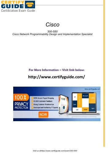 300-550 Certification Tests