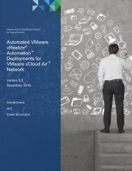 Automation Deployments for VMware vCloud Air Network