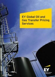 EY Global Oil and Gas Transfer Pricing Services