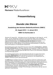 Pressemitteilung Sounds Like Silence - HMKV