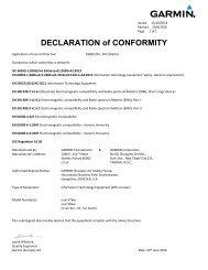 Garmin Declarations of Conformity - Nuvi 57/58