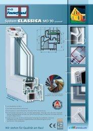 System CLASSICA MD 90 Kunststoff - W+D Fensterfreund