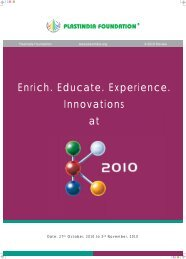 Enrich. Educate. Experience. Innovations at - Plastindia 2012