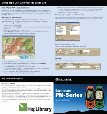 Garmin Earthmate® PN-30/40 - Quick Reference Guide