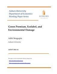 Green Premium Ecolabel and Environmental Damage