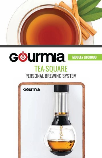Gourmia GTC8000 Tea and Coffee Brewer -
