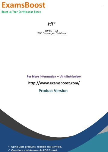 HPE2-T33 Real Exam