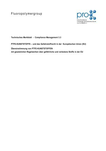 Technisches Merkblatt - Compliance Management 3.3 - Pro-K