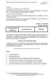TRGS 500 - Staatliche Gewerbeaufsicht Baden-Württemberg