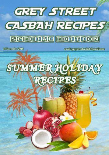 Casbah Summer Holiday Recipes 2016