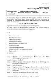 TRGS 401 - Bundesanstalt für Arbeitsschutz und Arbeitsmedizin