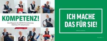 KOMPETENZ! Das Magazin der DEVK-Versicherung, Matthias W. Schlattmeier