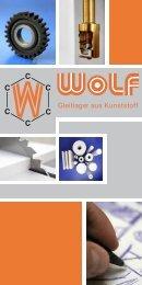 Gleitlager aus Kunststoff - Wolf