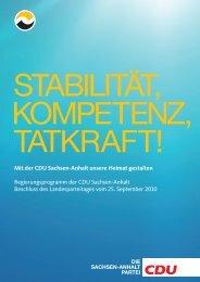 Mit der CDU Sachsen-Anhalt unsere Heimat ... - Mitglied der CDU