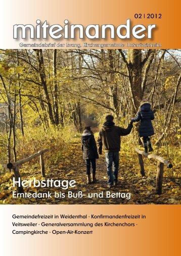 2011.03 miteinander - evangelisch in Unteröwisheim