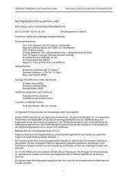 Protokoll der Sitzung des Preigerichts vom 10.12.2009