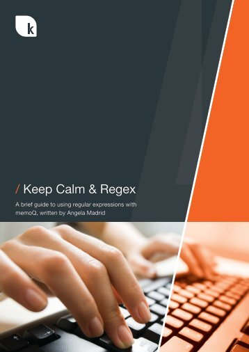 / Keep Calm & Regex