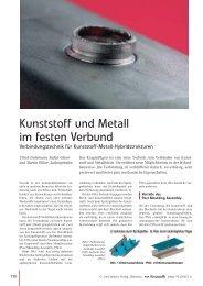 Kunststoffe und Metall im festen Verbund - BASF Plastics Portal