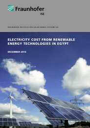 ELECTRICITY COST FROM RENEWABLE ENERGY TECHNOLOGIES IN EGYPT