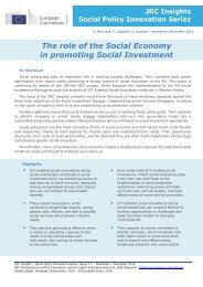 in promoting Social Investment takeup costeffectiveness