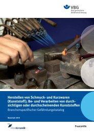 Herstellen von Schmuck- und Kurzwaren (Kunststoff); Be- und ... - VBG