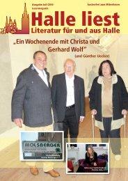 Ein Wochenende mit Christa und Gerhard Wolf - Halle liest ...