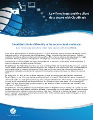 Law firms keep sensitive client data secure with CloudMask