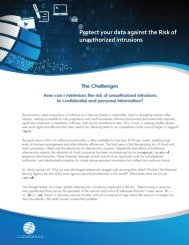 Protect your data against the Risk of unauthorized intrusions