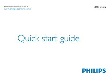 Philips 3000 series TV LCD - Guide de mise en route - POL