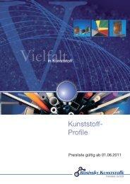 Kunststoff- Profile - ROSINSKY KUNSTSTOFFE