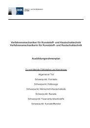 Verfahrensmechaniker / -in Kunststoff