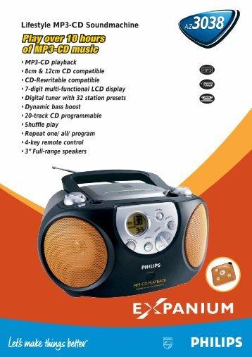Philips Lecteur de CD - Fiche Produit - FRA