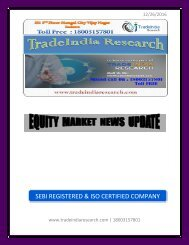 Weekly Research Report by TradeIndia Research