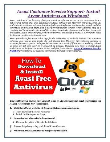 Avast Customer Service Support