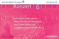 Konzert 7 - musikFabrik