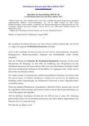 NRW Stipendien Ausschreib 2011 - Karlheinz Stockhausen