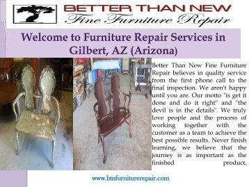 Furniture Refinishing Phoenix| Better Than New