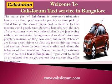 Bangalore Coorg Car Rentals|Cabs Forum