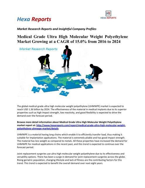 Medical Grade Ultra High Molecular Weight Polyethylene