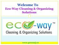 Cleaning Service New Jersey |Eco-Way Cleaning & Organizing Solutions