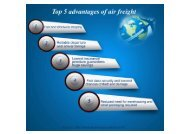 Top 5 advantages of air freight