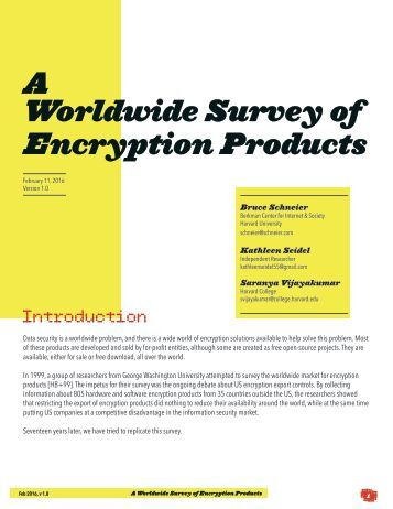 A Worldwide Survey of Encryption Products
