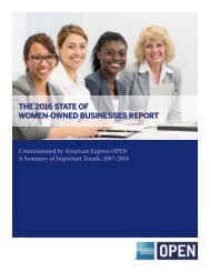 THE 2016 STATE OF WOMEN-OWNED BUSINESSES REPORT