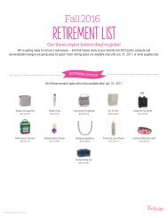 Retirement List for Fall/Winter 2016