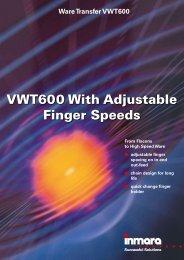 VWT600 With Adjustable Finger Speeds