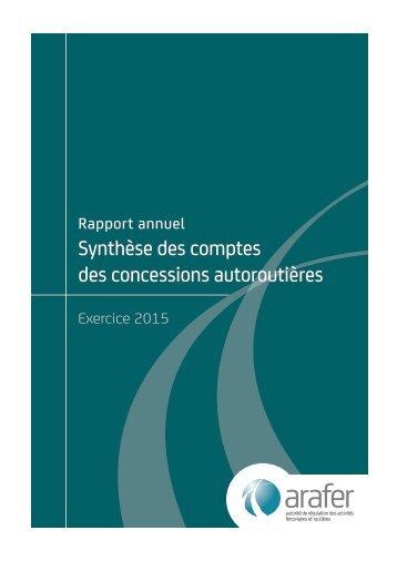 Synthèse des comptes des concessions autoroutières