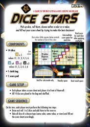 COMPONENTS GAME SETUP GAME SEQUENCE