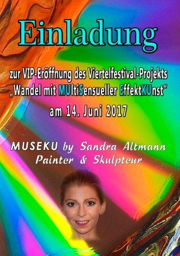 VIP-Einladung - Eröffnung Viertelfestival-Projekt MUSEKU - 14.06.2017