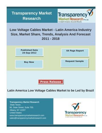 Low Voltage Cables Market - Latin America Industry  2011 - 2018
